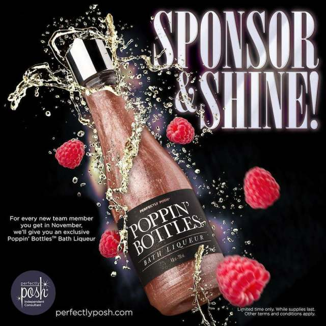 perfectly posh sponsor exclusive poppin bottles